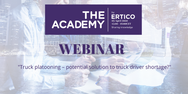 WEBINAR: Is truck platooning a potential solution to truck driver shortage?